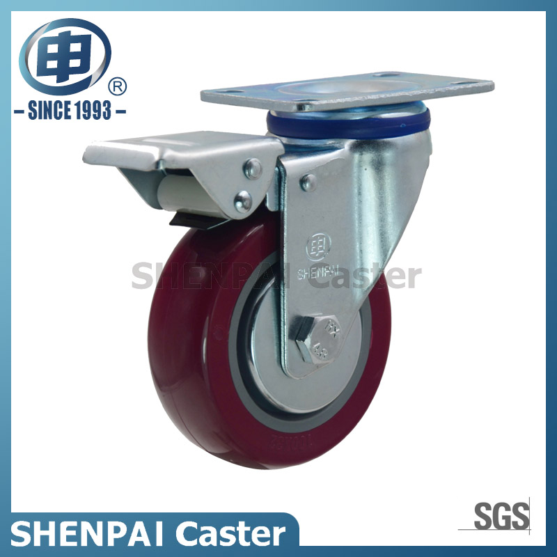 "3.5"" Polyurethane Rigid Industrial Caster Wheel"