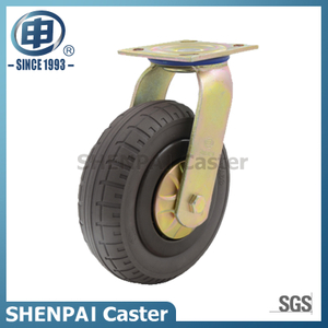 "8""Rubber Elasticity Foam Swivel Caster Wheel"