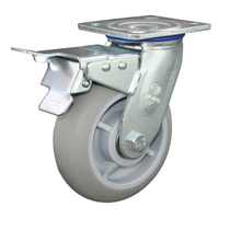 5' TPR Swivel With Brake Caster Wheel for Heavy Duty