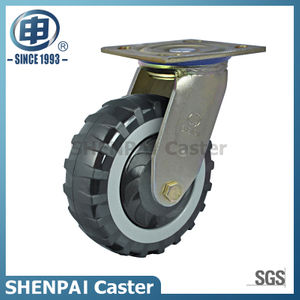 6 Inch Skidproof PU Swivel Caster Wheel