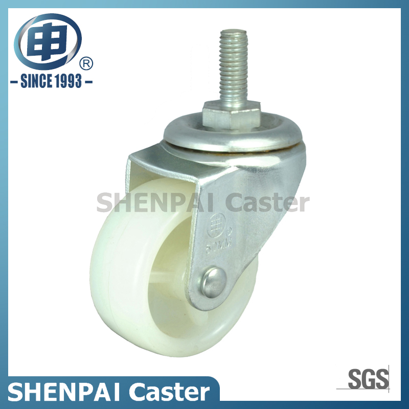 "1.5""PP Threaded Stem Swivel Locking Caster Wheel"