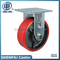 5 Inch Iron Core PU Rigid Caster Wheel (flat)