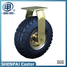 "10""Rubber Pneumatic Rigid Caster Wheel"
