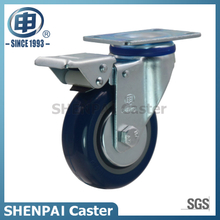 "3"" Blue Polythene Swivel Locking Caster Wheel"