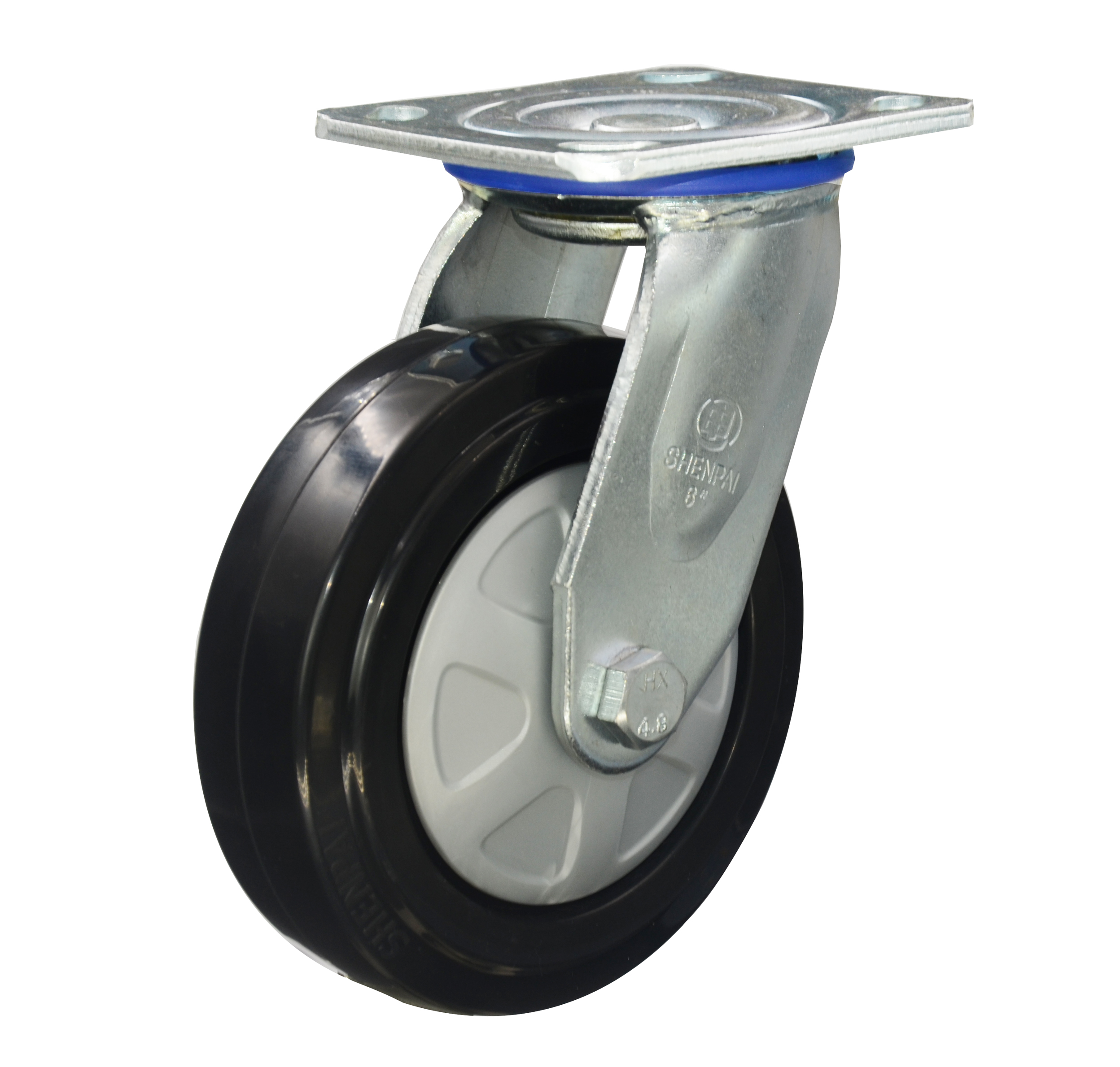 6 Inch Rubber Castor Wheel swivel