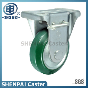 "4"" Steel Core Rubber Rigid Locking Caster Wheel"