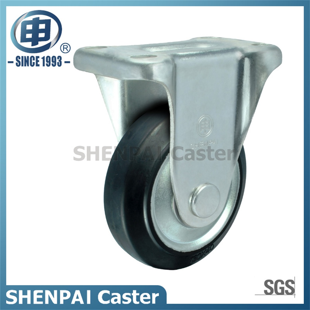 "3"" Steel Core Rubber Swivel Caster Wheel(Black)"