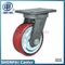 6inch Heavy Duty Iron Core PU Swivel Industrial Caster (flat)