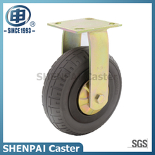 "10""Rubber Elasticity Foam Rigid Caster Wheel"