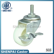 "2""PP Threaded Stem Swivel Locking Caster Wheel"