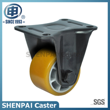 4 Inch Aluminium Core PU Rigid Caster Wheel