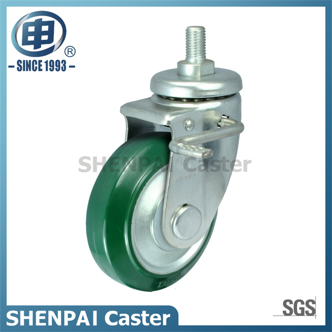 "8"" Steel Core Rubber Swivel Brake Caster Wheel"