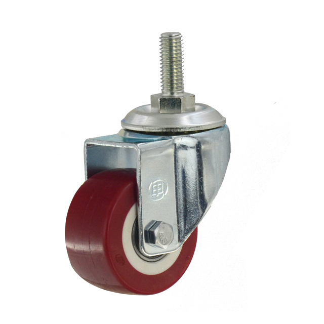 "1.5"" Polyurethane Threaded Stem Swivel Caster Wheel"