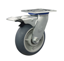 TPR Swivel with brake Caster Wheel for Heavy Duty 6""