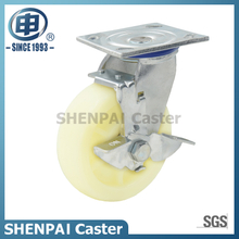 "4"" White PP Swivel Caster Wheel"