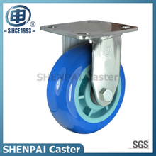 "8""Stainless Steel Bracket Rigid PU Caster Wheel"