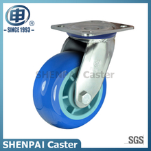 "5""Stainless Steel Bracket Swivel PU Caster Wheel"